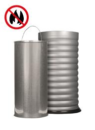 Feuerhemmende Behälter - Papierkörbe / Ascher