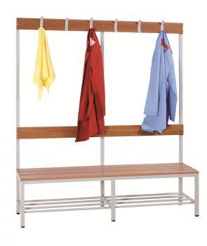 Sitzbank PROsteel - mit Garderobenleisten