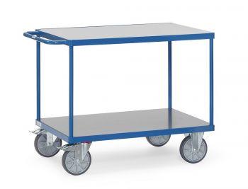 Tischwagen Fetra mit Hart-PVC-Plattformen