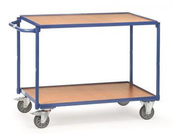 Tischwagen Fetra mit 2 Böden aus Holz, Griff waagerecht