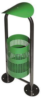 Außen Abfallbsystem TKG Hemer mit 1 Behälter 18 Liter Grün