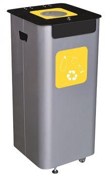 Abfallbehälter Menden Einwurfmodell Volumen 70 Liter Gelb