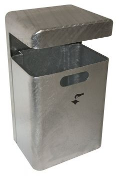 Außen Abfallbehälter TKG Mondo Wandmontage 35 Liter Silber