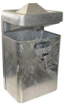 Außen Abfallbehälter TKG Mondo Pyramide 35 Liter Silber