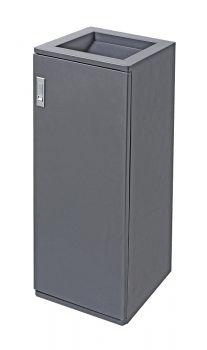 Abfallbehälter Acier 30 Liter Graphit