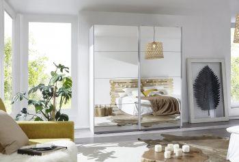 Schwebetürenschrank Caracas mit 2 Spiegeltüren Classic