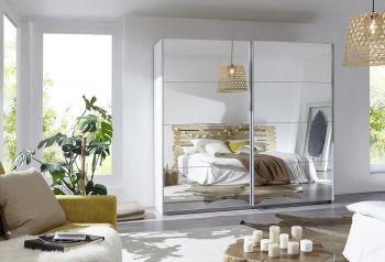 Schwebetürenschrank Caracas mit 2 Spiegeltüren Premium