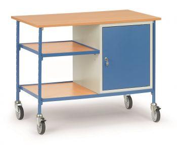 rolltisch fetra mit 2 b den aus holz und 1 stahlschrank p50001907. Black Bedroom Furniture Sets. Home Design Ideas