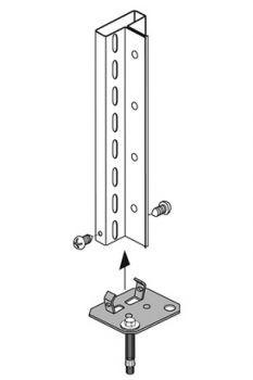 Fußverdübelungsset für Grundregal Compact