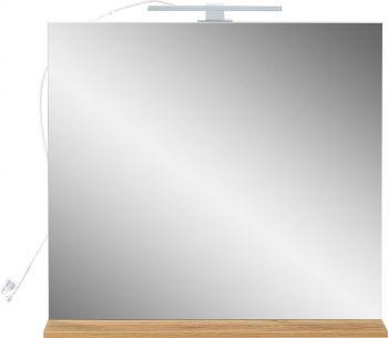 Spiegel mit Ablageboden und LED