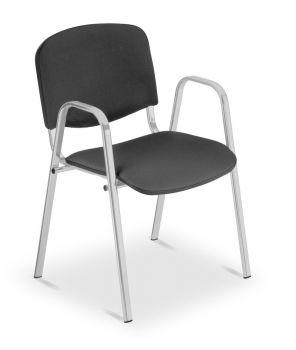 Besucher-/Konferenzstuhl ISO Silver mit Armlehnen
