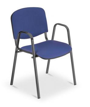 Besucher-/Konferenzstuhl ISO Black mit Armlehnen