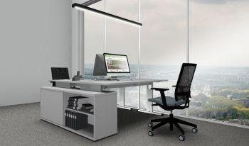 Komplettbüro Serie PRO8S Farbe Grau