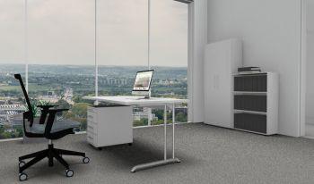 Komplettbüro Serie PRO1 Farbe Grau