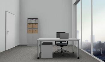 Komplettbüro Serie PRO6S Farbe Grau