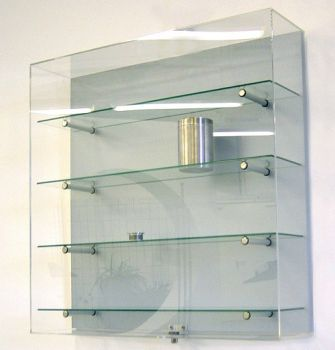Wandvitrine PROline 7600 mit Kunstglashaube