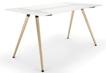 Tisch SAM mit Tischplatte in Milchglas