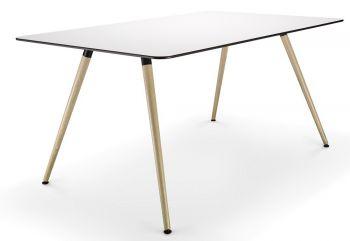 Tisch SAM mit Tischplatte in HPL Weiß