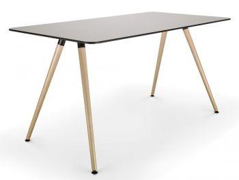 Tisch SAM mit Tischplatte in HPL Grau
