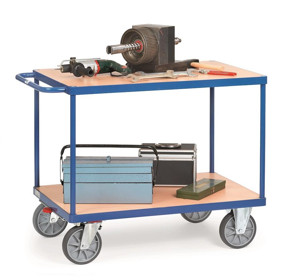 tischwagen fetra mit 2 b den aus holz p50002064. Black Bedroom Furniture Sets. Home Design Ideas