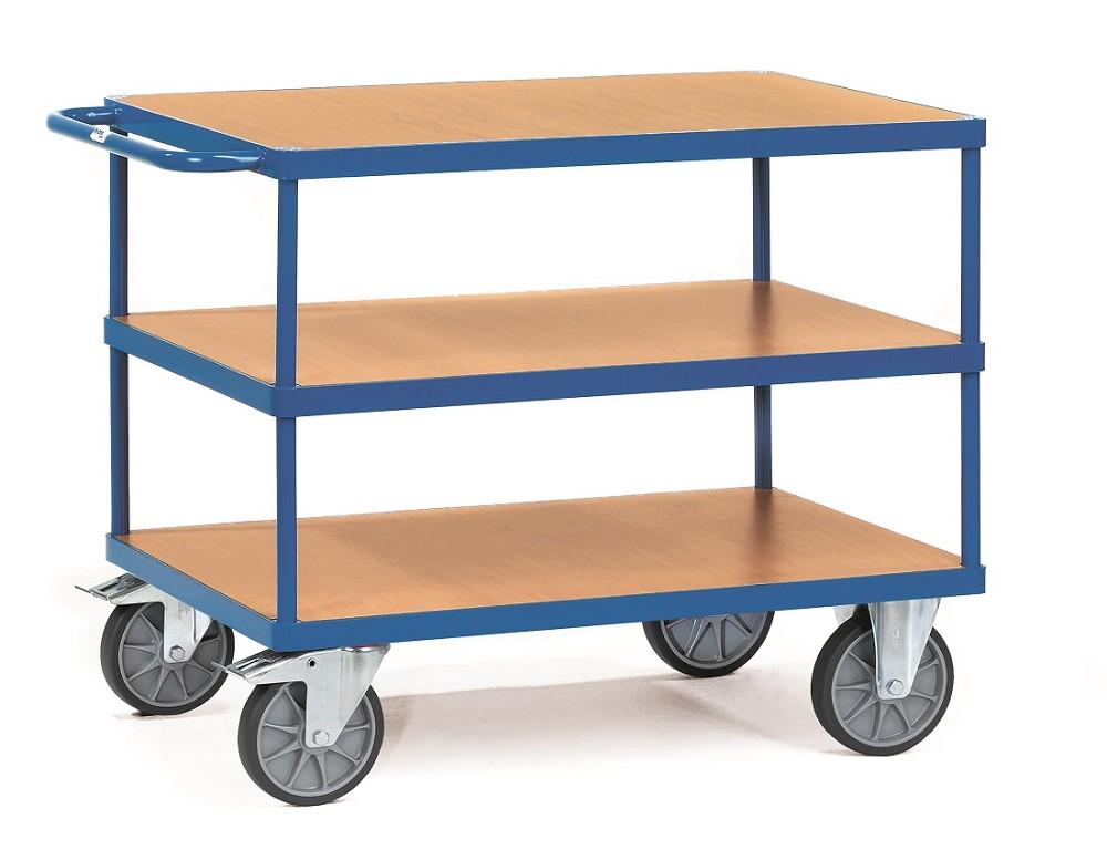 tischwagen fetra mit 3 b den aus holz p50002084. Black Bedroom Furniture Sets. Home Design Ideas