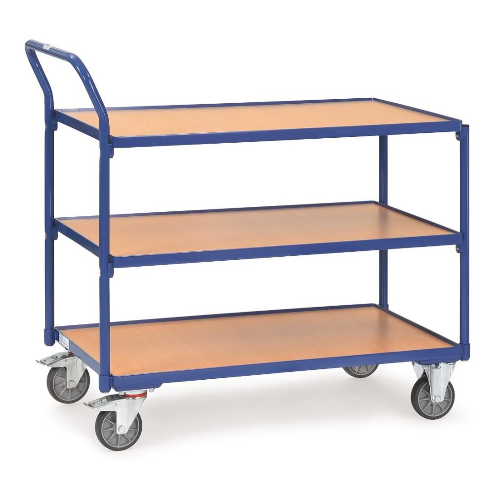 tischwagen fetra mit 3 b den aus holz griff hochstehend p50002110. Black Bedroom Furniture Sets. Home Design Ideas