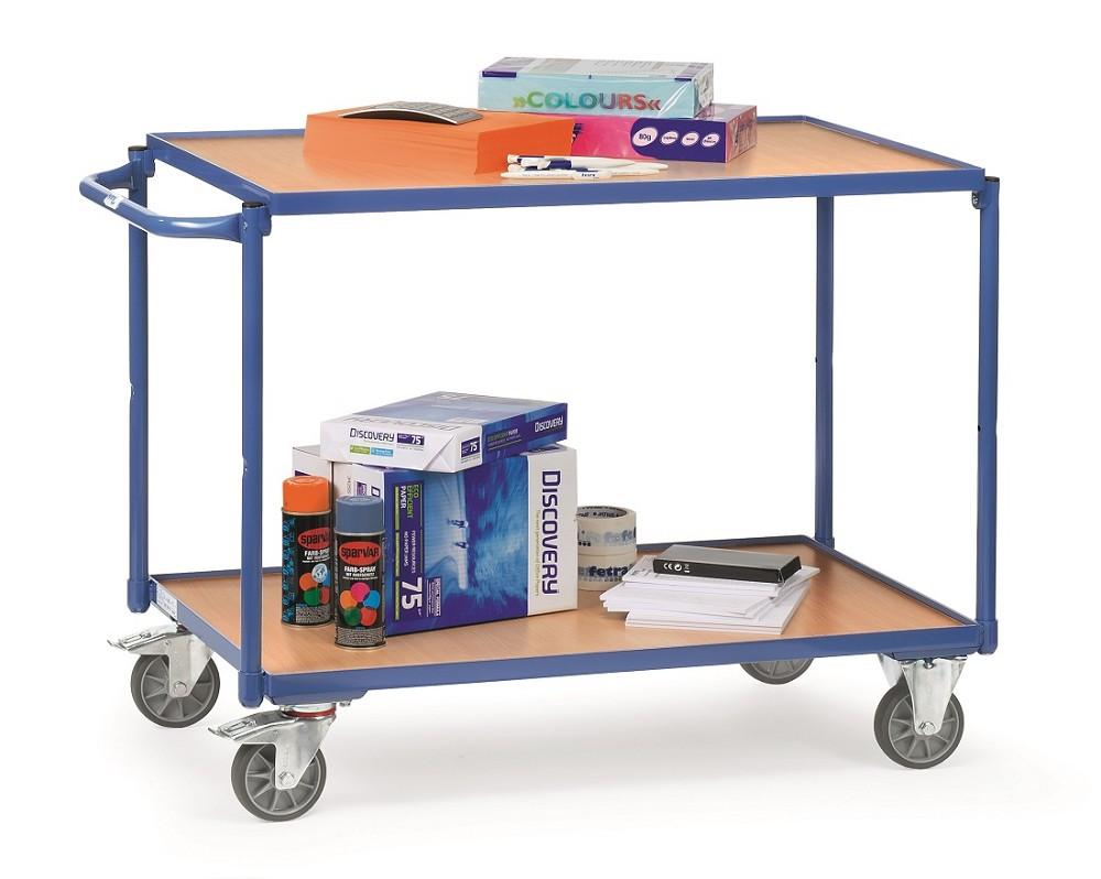 tischwagen fetra mit 2 b den aus holz griff waagerecht p50002112. Black Bedroom Furniture Sets. Home Design Ideas
