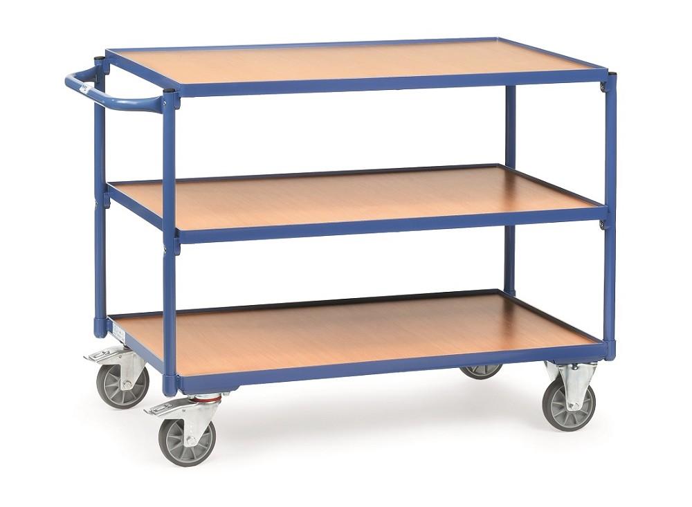 tischwagen fetra mit 3 b den aus holz griff waagerecht p50002115. Black Bedroom Furniture Sets. Home Design Ideas