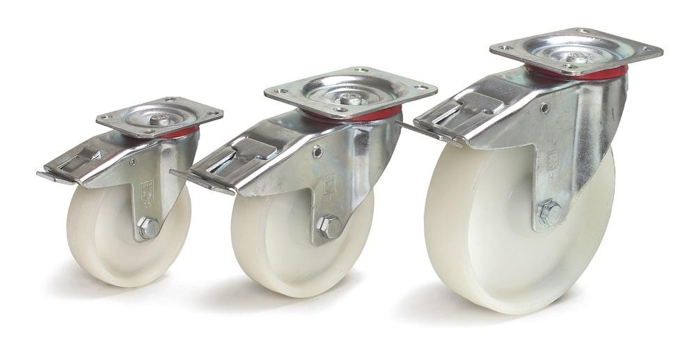 Lenkrolle Fetra, Feststeller 125x38 mm, Polyamid-Bereifung-P50001694