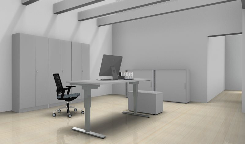 sitz steh schreibtisch serie pro9 p9sxdsm20 5. Black Bedroom Furniture Sets. Home Design Ideas