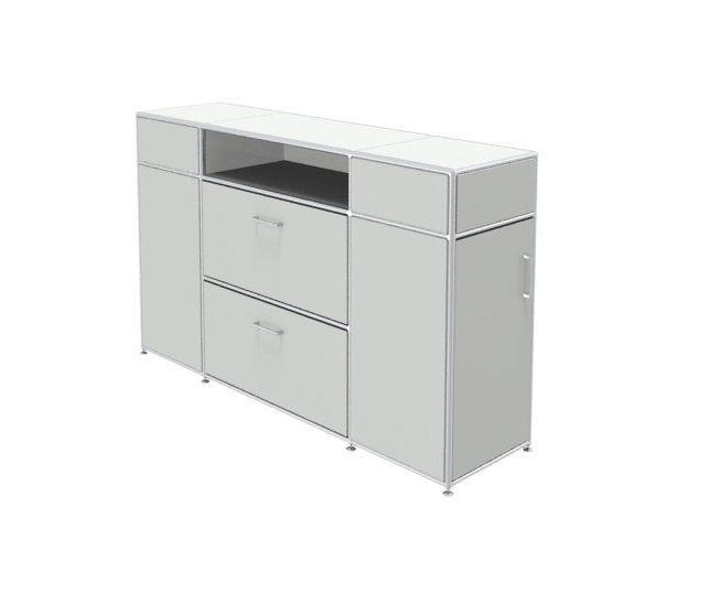 Raumteiler sideboard modul space msos 0031 weis for Sideboard raumteiler