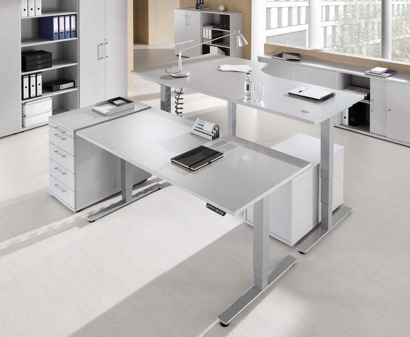 sitz steh schreibtisch serie pro9 p9sxdsm12 5. Black Bedroom Furniture Sets. Home Design Ideas