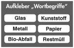 """Aufkleber-Set """"Wortbegriffe"""" 6 Stück"""